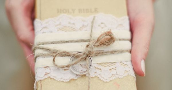 Bible Wedding Ring pillow... Instead of a traditional pillow Country Weddings Pinterest ...