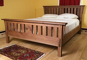 Sample Pic Of The Mission Style Bed That Sonya S Dad Built For Us Woodworking Furniture Plans Woodworking Projects Furniture Mission Style Beds