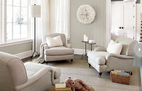 Best Style At Home Living Rooms Two Tone Gray Walls Slate 400 x 300