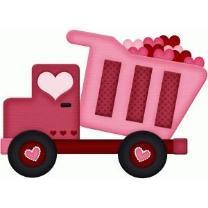 Silhouette Design Store Love Dump Truck Valentine Clipart Valentines Art Design Store