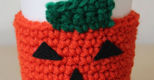 Pumpkin Coffee Sleeve - Halloween Crochet Coffee Cozy ...