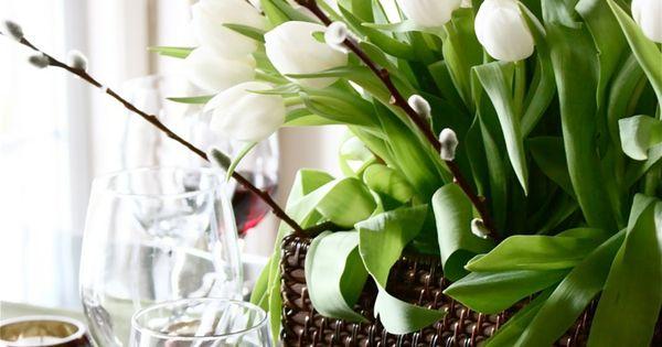 Composition florale printanière- 55 idées de déco maison ...