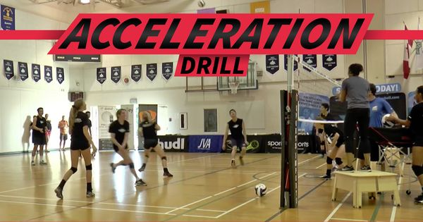 Acceleration Drill From Salima Rockwell Coaching Volleyball Volleyball Conditioning Volleyball Drills