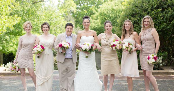 Neutral Elegant Outdoor Wedding: Pink Wedding Reception Outdoors