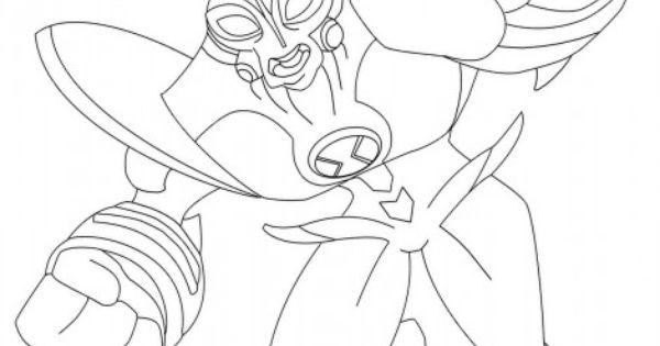 Ben 10 Ultimate Way Big Coloring Pages Coloring Pages Sketches