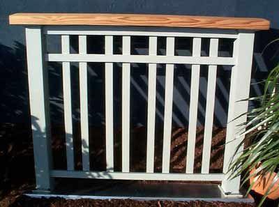 craftsman railing - Patio Handrail Ideas