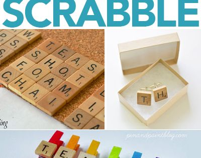 25 super cool uses for old scrabble games pieces - Scrabble decoracion ...