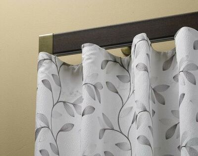 Ebern Designs Ephrata Decorative Traverse Wenge Single Curtain Rod