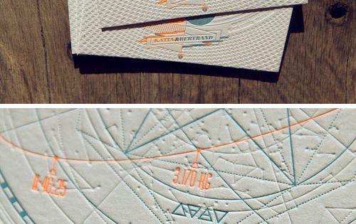 Faire-part naissance letterpress / Birth announcement letterpress card / design Les mouches