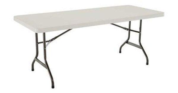 Lifetime 6 Ft Rectangle Commercial Folding Table White 22900 Folding Table Table Patio Table