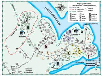 lake jennings campground map Daniel Boone National Forest Holly Bay Campground Daniel Boone lake jennings campground map