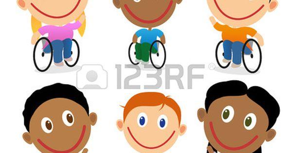 Ninos Felices Para Discapacitados En Silla De Ruedas Personajes De Dibujos Animados Aislado En Blanco Ninos Y Ninas Multirraciales Ninos Felices Dibujos Animados Personajes Ninos