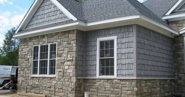 Boral Cultured Stone For A Traditional Exterior With A Shake