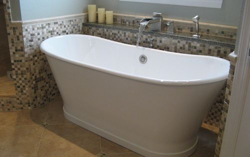 This Deep Free Standing Soaker Tub Fills In Style With Our