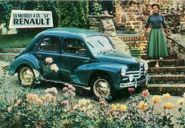 Catalogue Literature Brochure Renault 4 Cv Juvaquatre Voiture Renault Voiture