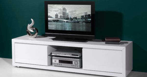 Fino high gloss white lcd plasma tv stand with 2 drawers for White plasma tv stands