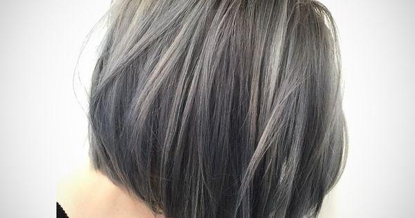 carr avec cheveux gris fonc cheveux gris fonc pinterest carr s cheveux argent s et gris. Black Bedroom Furniture Sets. Home Design Ideas