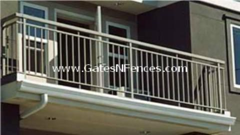 Railing Plain Large Top Rail Aluminum Fencing Privacy