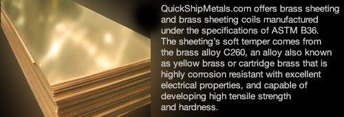 Brass 8 Gauge Sheet Metal From Quickshipmetals Com Sheet Metal Brass Sheet