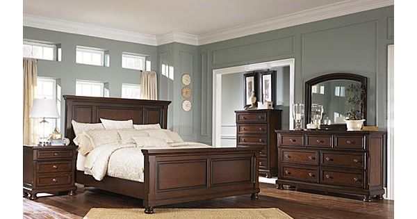 The Porter Panel Bedroom Set From Ashley Furniture Homestore The Warm Rustic Beauty
