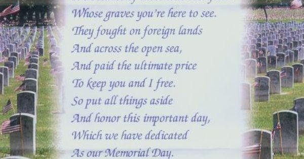 memorial day poem in flanders field