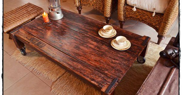 Mesas ratonas rusticas con ruedas buscar con google - Precio muebles antiguos ...