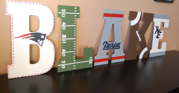Patriots Themed Wall Letters By Lovebbycarrie On Etsy 15