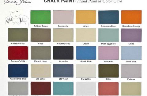 All The Dreamy Colors Of Annie Sloan Chalk Paint All In