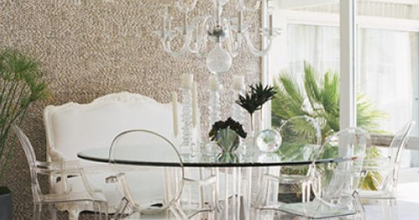 love the lucite dining set