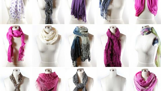 50+ Ways to Tie a Scarf. I love to wear scarves and