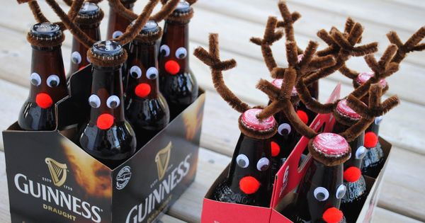 Rein-beer! Good idea for guy gifts! Or for a none alcoholic idea