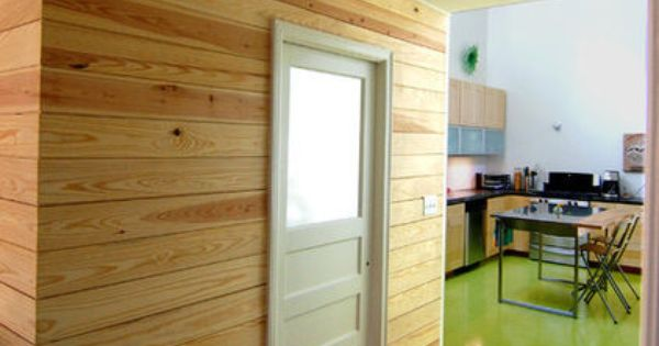 A Natural Pine Tongue And Groove Accent Wall Creates A