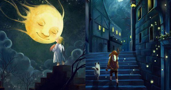 Talking to the moon... by Melanie Sie a.k.a Darkmello ...