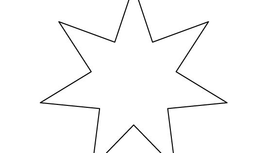 Seven-pointed Star Pattern. Use The Printable Outline For