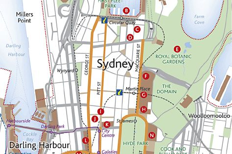 Sydney tourist attractions map 1 Representations – Sydney Tourist Attractions Map