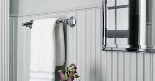 How To Cover Dated Bathroom Tile With Wainscoting