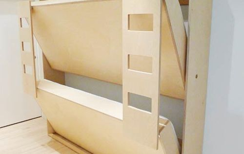 Really like this idea for kids bedroom. Murphy Bed - Bunk Bed
