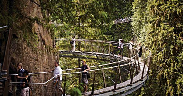 Cliffwalk at capilano suspension bridge vancouver Passerelle definition
