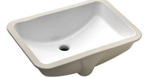 Kohler Ladena Undercounter Lavatory In White K 2214 0 Home Depot Canada Undermount Bathroom Sink Rectangular Sink Bathroom Bathroom Sink