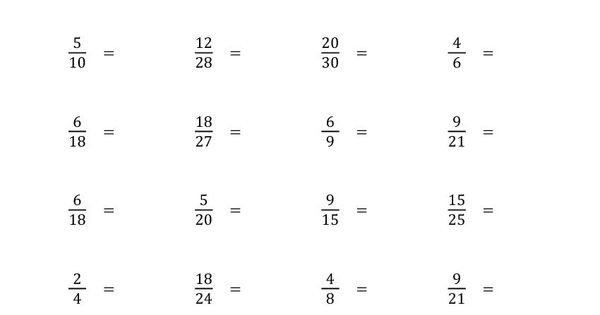 Simplify Proper Fractions to Lowest Terms worksheets – Fractions in Lowest Terms Worksheets