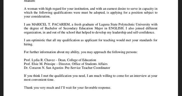cover letter sample cover letter sample for job application fresh graduate http resumesdesign com cover letter - Cover Letter Sample For Fresh Graduate
