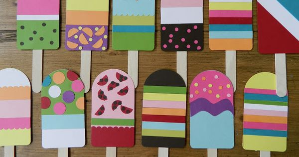 Ridiculously cute ice pop garland