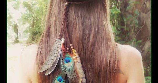 Kuyani, plume, bandeau, boho, gitane, coachella, tribal