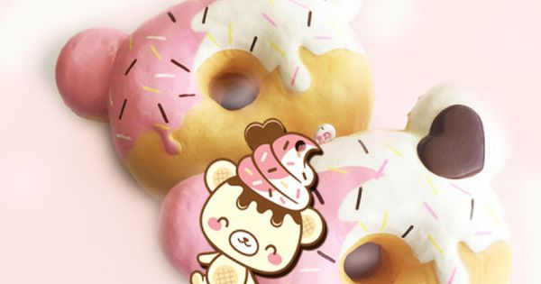 Summer Squishy Tag : Jumbo Yummiibear Donut. Super Squishy. Double scented. Squishies Pinterest Donuts, Euro ...