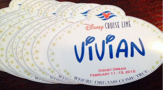 Disney cruise personalized name tag magnets fish for Disney fish names