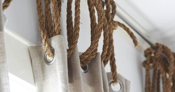 Ruff Rope And Grommets To Hang Drapes Home Pinterest