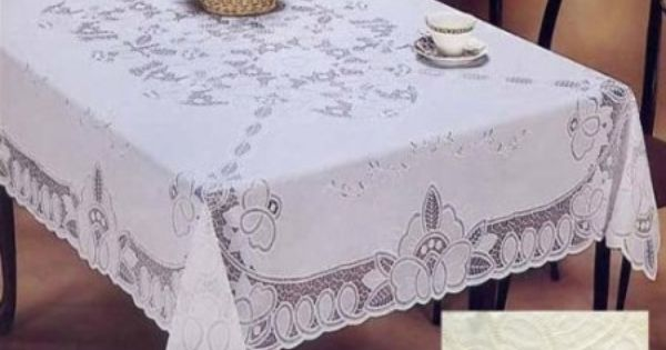 Amazon Com Vinyl Lace Betenburg Design Tablecloth White