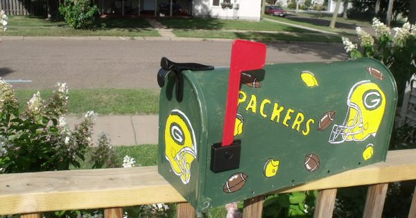 Green Bay Packer Mailbox Sports Crafts Pinterest Packers