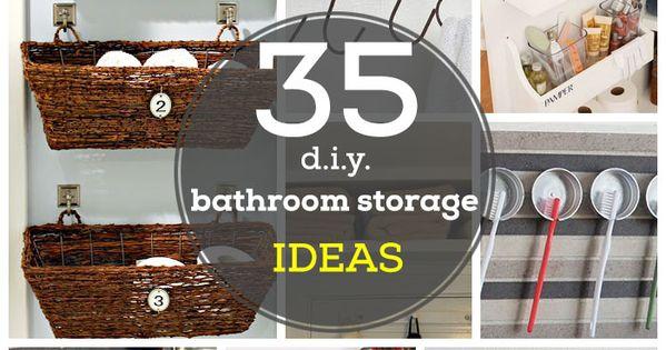 35 DIY Bathroom Storage Ideas on a Budget | DIY Bathroom Organization