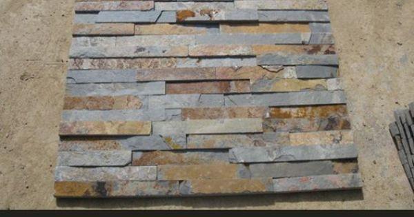 Hestia gemaakt exporteur multicolour roestige leisteen culturele steen voor wanddecoratie - Leisteen muur ...